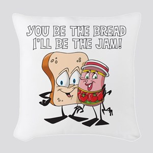 Bread and Jam Woven Throw Pillow