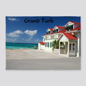White Beach,Grand Turk 5'x7'Area Rug
