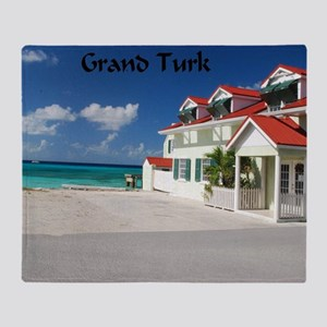White Beach,Grand Turk Throw Blanket