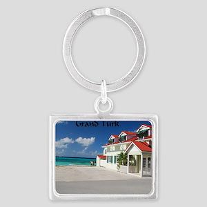White Beach,Grand Turk Landscape Keychain