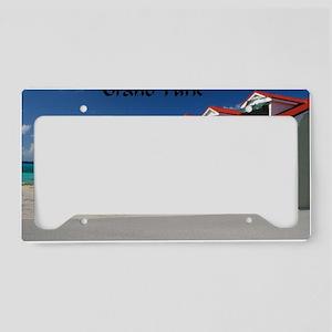 White Beach,Grand Turk License Plate Holder