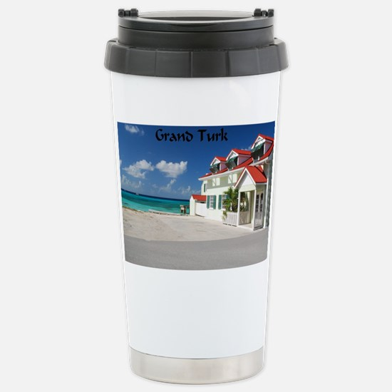 White Beach,Grand Turk Stainless Steel Travel Mug