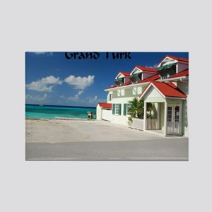 White Beach,Grand Turk Rectangle Magnet