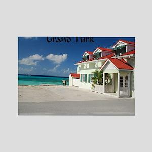 White Beach Grand Turk Rectangle Magnet