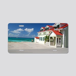 White Beach,Grand Turk Aluminum License Plate
