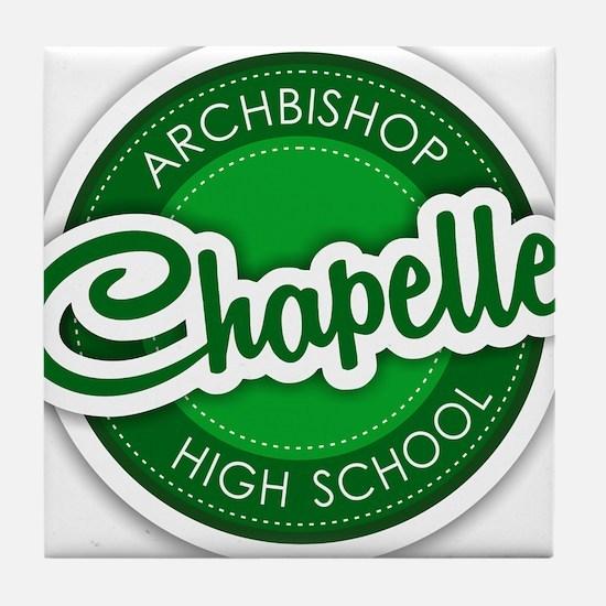 Archbishop Chapelle High School Logo Tile Coaster