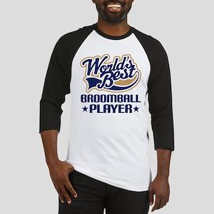 Broomball Player Baseball Jersey