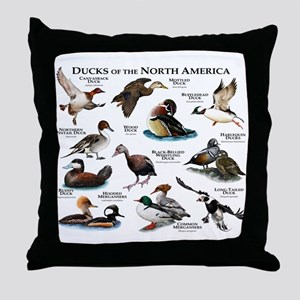 Ducks of North America Throw Pillow