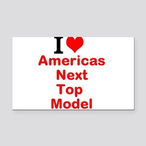 I Love Americas Next Top Model Rectangle Car Magne