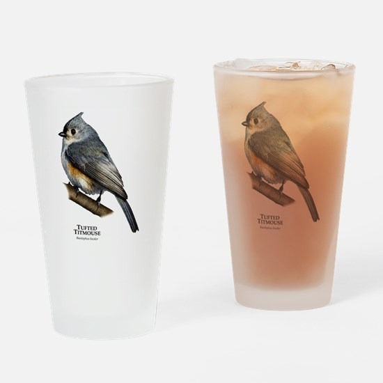 Tufted Titmouse Drinking Glass
