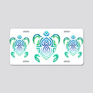 Tribal Turtle Aluminum License Plate