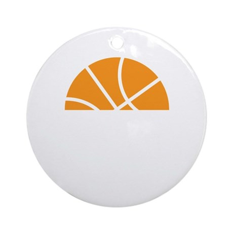 Basketball Number 34 Player Gift Ornament (Round)