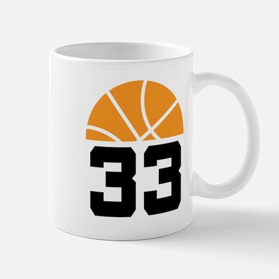 Basketball Number 33 Player Gift Mug
