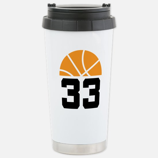 Basketball Number 33 Player Gift Stainless Steel T