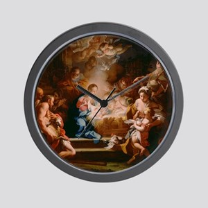 The Adoration of the Shepherds Wall Clock