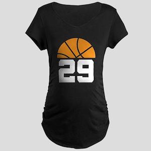 Basketball Number 29 Player Gift Maternity Dark T-