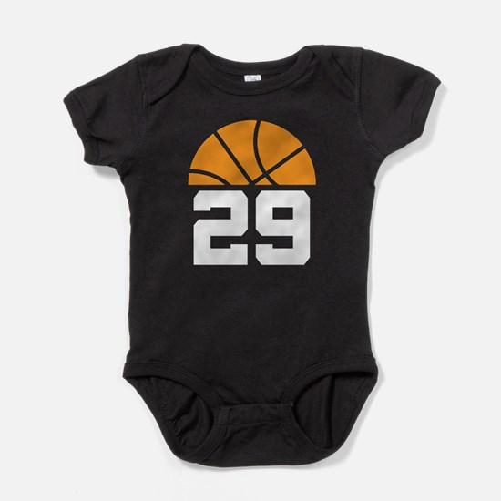 Basketball Number 29 Player Gift Baby Bodysuit