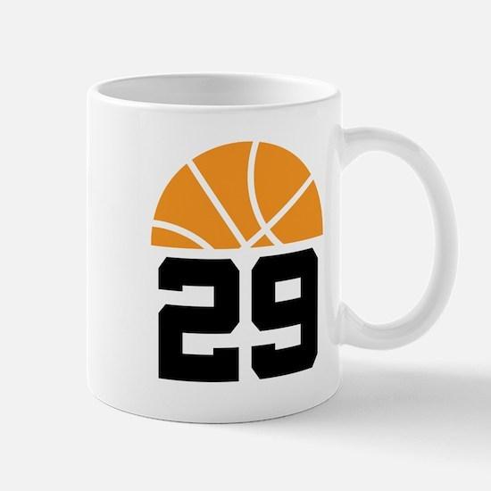 Basketball Number 29 Player Gift Mug