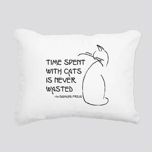 time with cats Rectangular Canvas Pillow