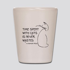time with cats Shot Glass