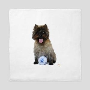 Cairn Terrier Football Scotland Queen Duvet