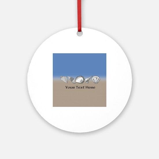 Beach Seashell Theme Art Personalizable Ornament (