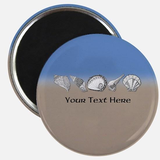Beach Seashell Theme Art Personalizable Magnets