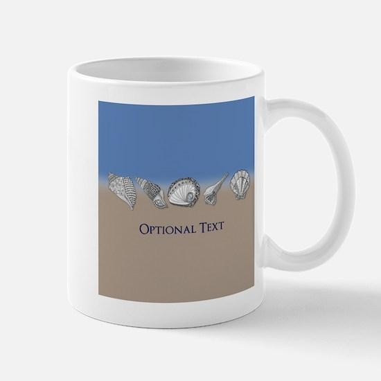 Beach Seashell Theme Art Personalizable Mugs