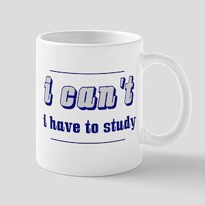 I Can't (Blue) Mugs