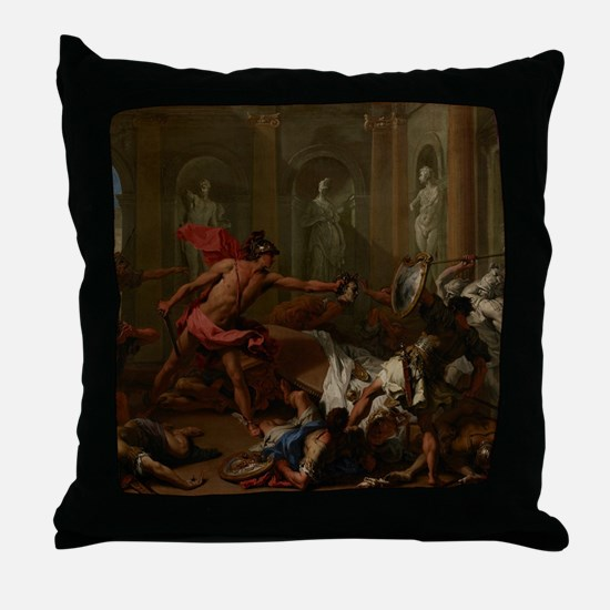 Perseus Confronting Phineus with the  Throw Pillow