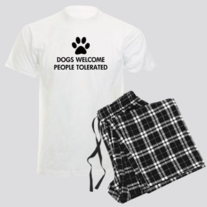 Dogs Welcome People Tolerated Men's Light Pajamas