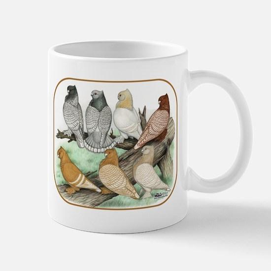 Classic Frill Pigeons Blondinettes Mugs