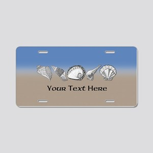 Beach Seashell Theme Art Personalizable Aluminum L