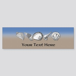 Beach Seashell Theme Art Personalizable Bumper Sti