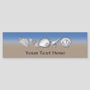 Beach Seashell Theme Art Personalizable Bumper Sti