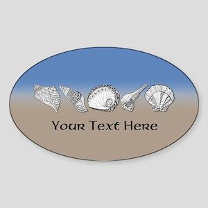 Beach Seashell Theme Art Personalizable Sticker
