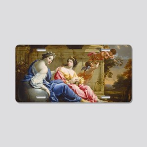 The Muses Urania and Callio Aluminum License Plate