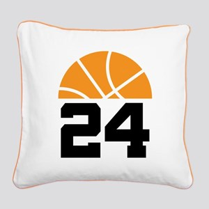 Basketball Number 24 Player Gift Square Canvas Pil