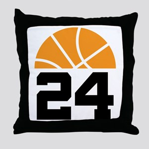 Basketball Number 24 Player Gift Throw Pillow