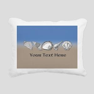 Unique Shell Art Customi Rectangular Canvas Pillow