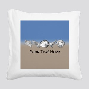 Unique Shell Art Customizable Square Canvas Pillow