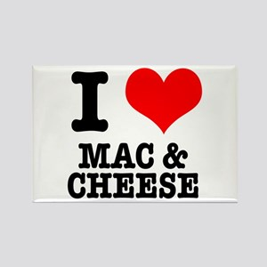 I Heart (Love) Mac & Cheese Rectangle Magnet