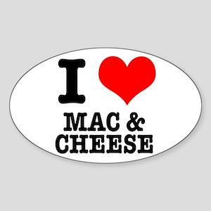 I Heart (Love) Mac & Cheese Oval Sticker