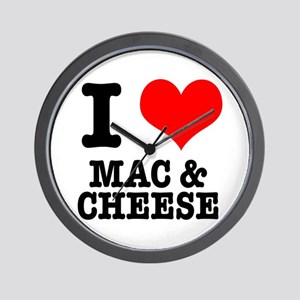 I Heart (Love) Mac & Cheese Wall Clock