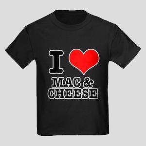 I Heart (Love) Mac & Cheese Kids Dark T-Shirt