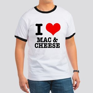 I Heart (Love) Mac & Cheese Ringer T