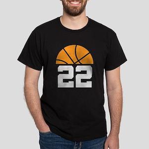 Basketball Number 22 Player Gift Dark T-Shirt