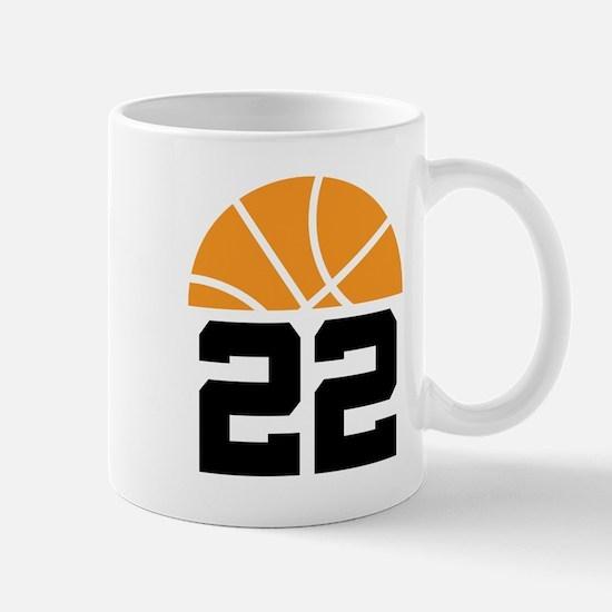 Basketball Number 22 Player Gift Mug