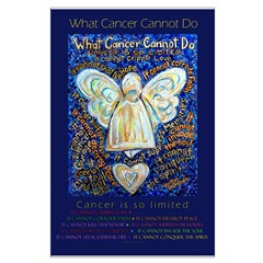 Blue & Gold Cancer Angel Posters