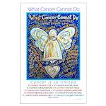 Blue & Gold Cancer Angel Large Poster